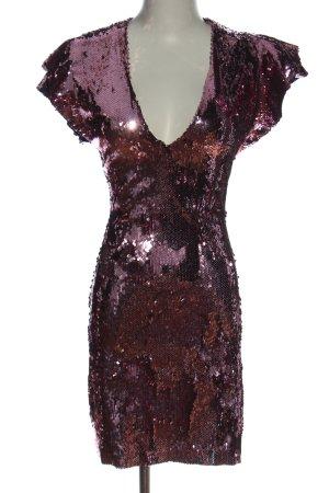 Zara Basic Cekinowa sukienka różowy Błyszczący