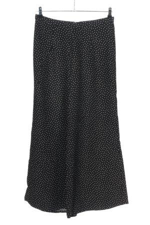 Zara Basic Pallazzobroek zwart-wit volledige print casual uitstraling