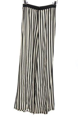Zara Basic Pallazzohose schwarz-weiß Streifenmuster Casual-Look