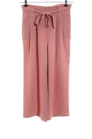 Zara Basic Pantalone palazzo rosa stile casual