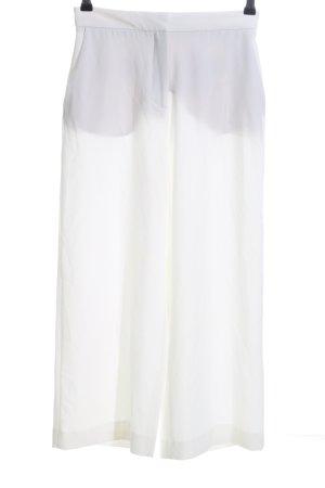 Zara Basic Spodnie palazzo biały W stylu biznesowym