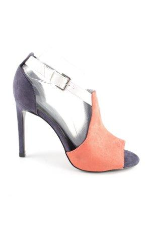 Zara Basic Peeptoe Pumps mehrfarbig Elegant