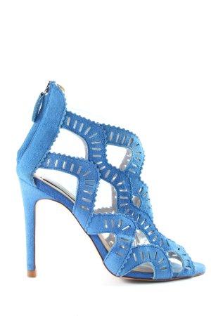 Zara Basic Peeptoe Pumps blau Elegant