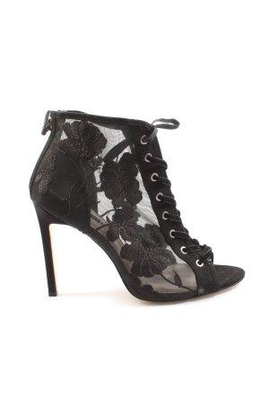 Zara Basic Patucos con punta abierta negro elegante
