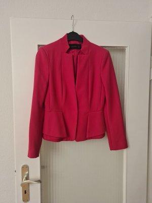 Zara Basic Blazer in lana rosso lampone