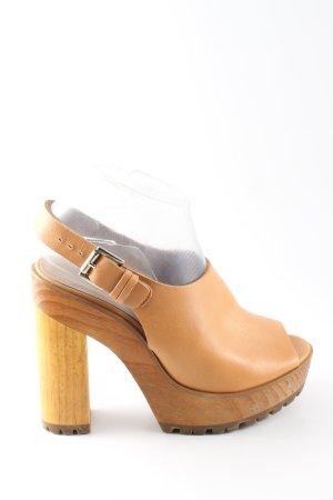 Zara Basic Plateauzool sandalen bruin volledige print casual uitstraling