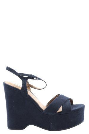 Zara Basic Plateau-Sandalen blau Casual-Look