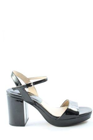 Zara Basic Plateauzool Sandalen met Hoge Hakken zwart casual uitstraling