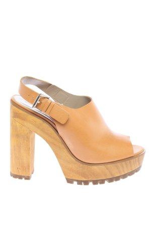 Zara Basic Sandalias de tacón con plataforma naranja claro look casual