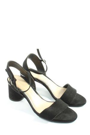 Zara Basic Riemchen-Sandaletten schwarz Elegant