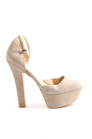 Zara Basic Plateau-Sandaletten wollweiß Elegant