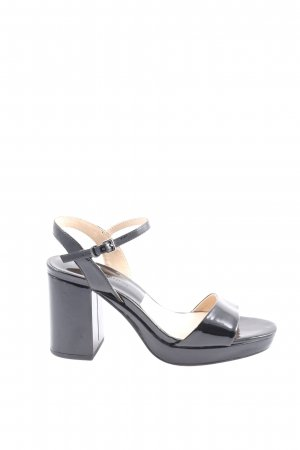 Zara Basic Strapped High-Heeled Sandals black elegant