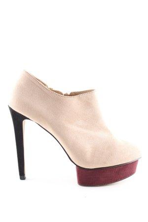 Zara Basic Stivaletto con plateau color carne-rosso stile professionale