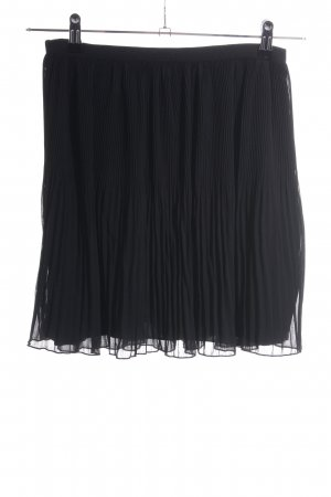 Zara Basic Pleated Skirt black casual look