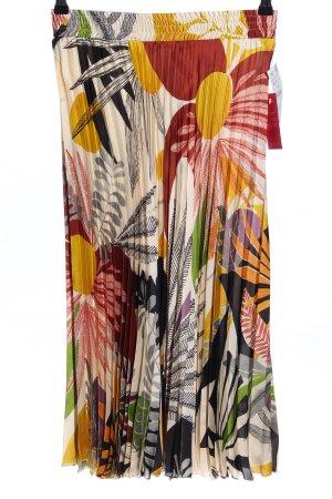 Zara Basic Pleated Skirt allover print casual look