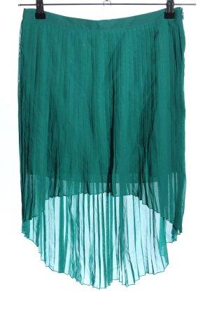 Zara Basic Plisseerock grün Casual-Look
