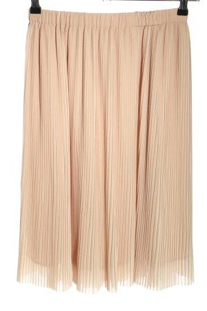 Zara Basic Plisseerock nude Casual-Look