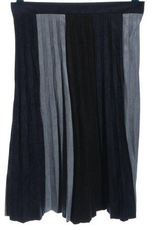 Zara Basic Falda plisada estampado a rayas look casual