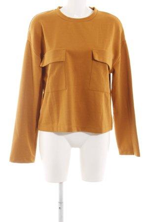Zara Basic Pullover hellorange Casual-Look