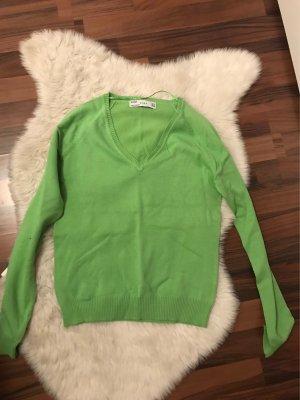 Zara Basic Pullover M 38 grün