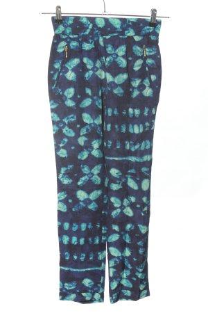 Zara Basic Flodderbroek lila-turkoois abstract patroon casual uitstraling