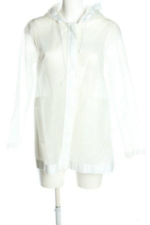 Zara Basic Regenjas wit-zwart prints met een thema casual uitstraling