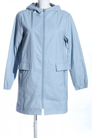 Zara Basic Regenjacke blau Casual-Look