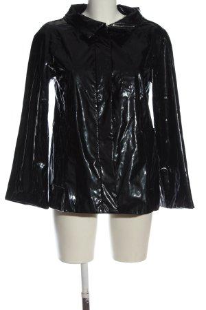 Zara Basic Manteau de pluie noir style décontracté