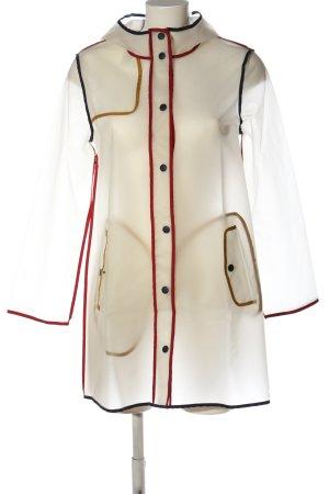 Zara Basic Manteau de pluie blanc style décontracté