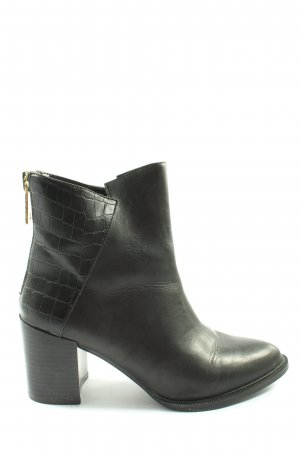 Zara Basic Reißverschluss-Stiefeletten schwarz Business-Look