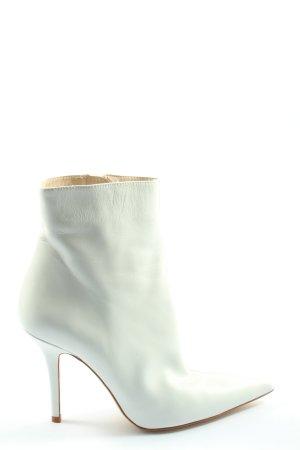 Zara Basic Reißverschluss-Stiefeletten weiß extravaganter Stil