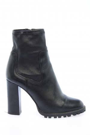 Zara Basic Reißverschluss-Stiefeletten schwarz Elegant