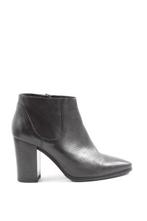 Zara Basic Reißverschluss-Stiefeletten schwarz Casual-Look