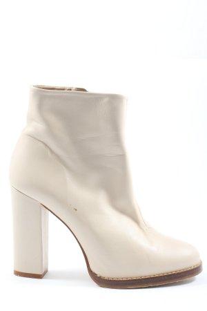 Zara Basic Reißverschluss-Stiefeletten weiß Elegant
