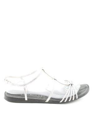 Zara Basic Sandalen met bandjes zilver casual uitstraling