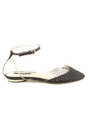 Zara Basic Sandales à lanière noir style décontracté