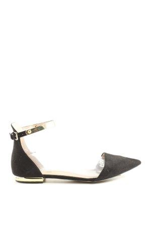 Zara Basic Riemchen-Sandalen schwarz Business-Look