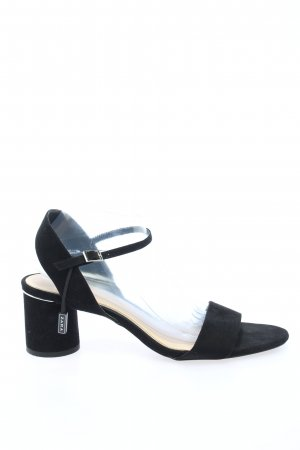 Zara Basic Sandales à talons hauts et lanière noir style décontracté
