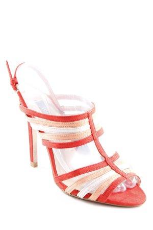 Zara Basic Sandalias de tacón de tiras multicolor elegante