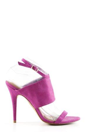 Zara Basic Riemchen-Sandaletten mehrfarbig Elegant
