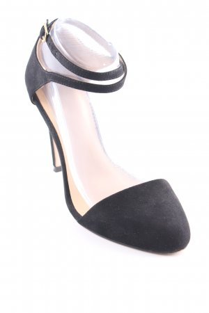 Zara Basic Riemchenpumps schwarz Party-Look