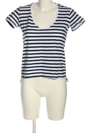 Zara Basic Ringelshirt schwarz-weiß Streifenmuster Casual-Look