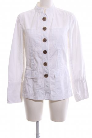 Zara Basic Ripstop Jacket white casual look