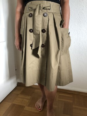 Zara Basic Falda estilo cargo marrón arena Algodón