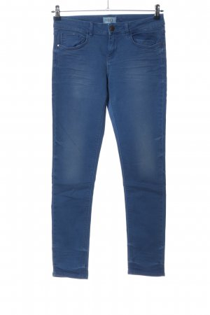 Zara Basic Spodnie rurki niebieski W stylu casual