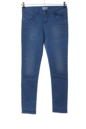 Zara Basic Röhrenhose blau Casual-Look