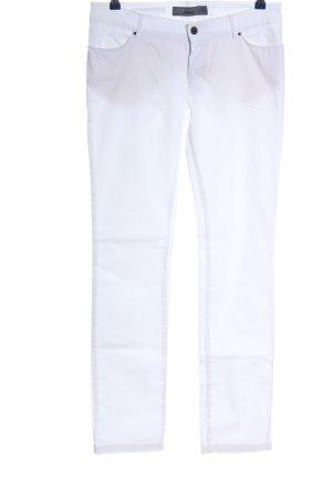 Zara Basic Röhrenhose weiß Casual-Look
