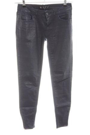 Zara Basic Röhrenhose schwarz Casual-Look