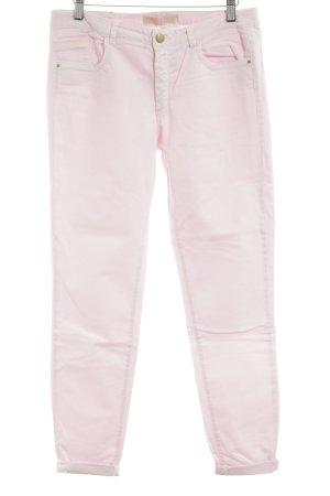 Zara Basic Röhrenhose pink Casual-Look
