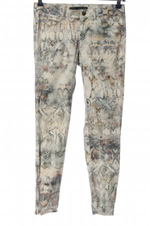 Zara Basic Röhrenhose Allover-Druck Casual-Look